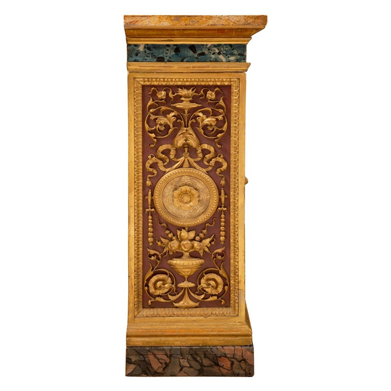 Italian 19th Century Neoclassical Style Painted and Giltwood Console For Sale 1