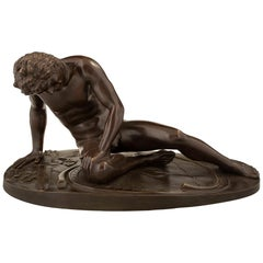 Italian 19th Century Patinated Bronze Statue of 'The Dying Gaul'