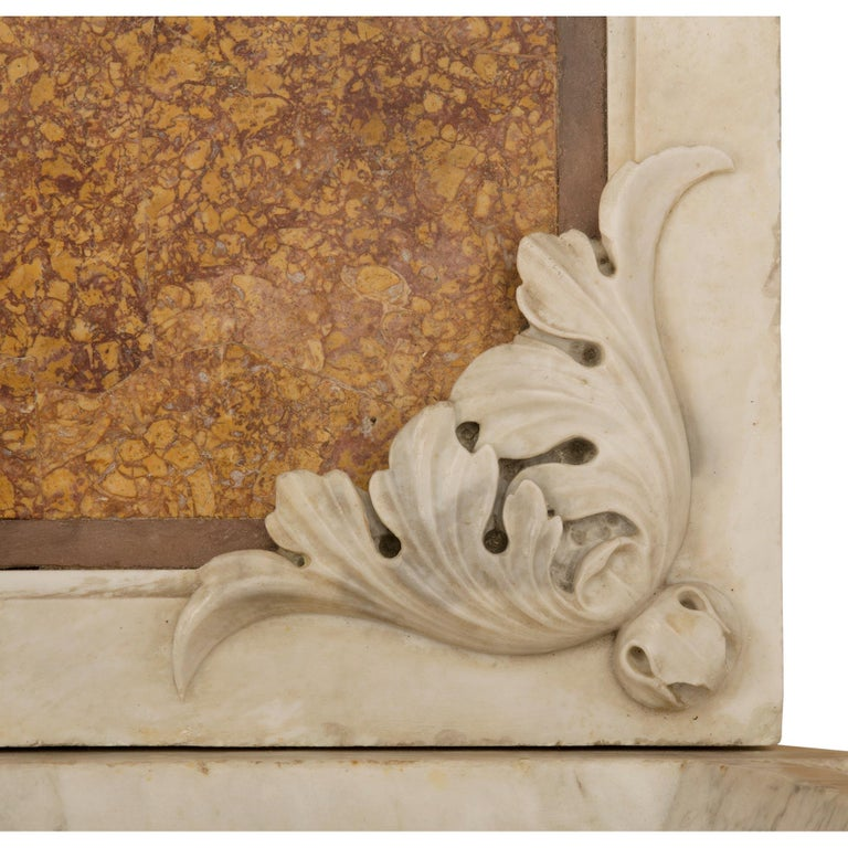 Italian 19th Century White Carrara and Brocatelle d'Espagne Marble Fountain For Sale 6