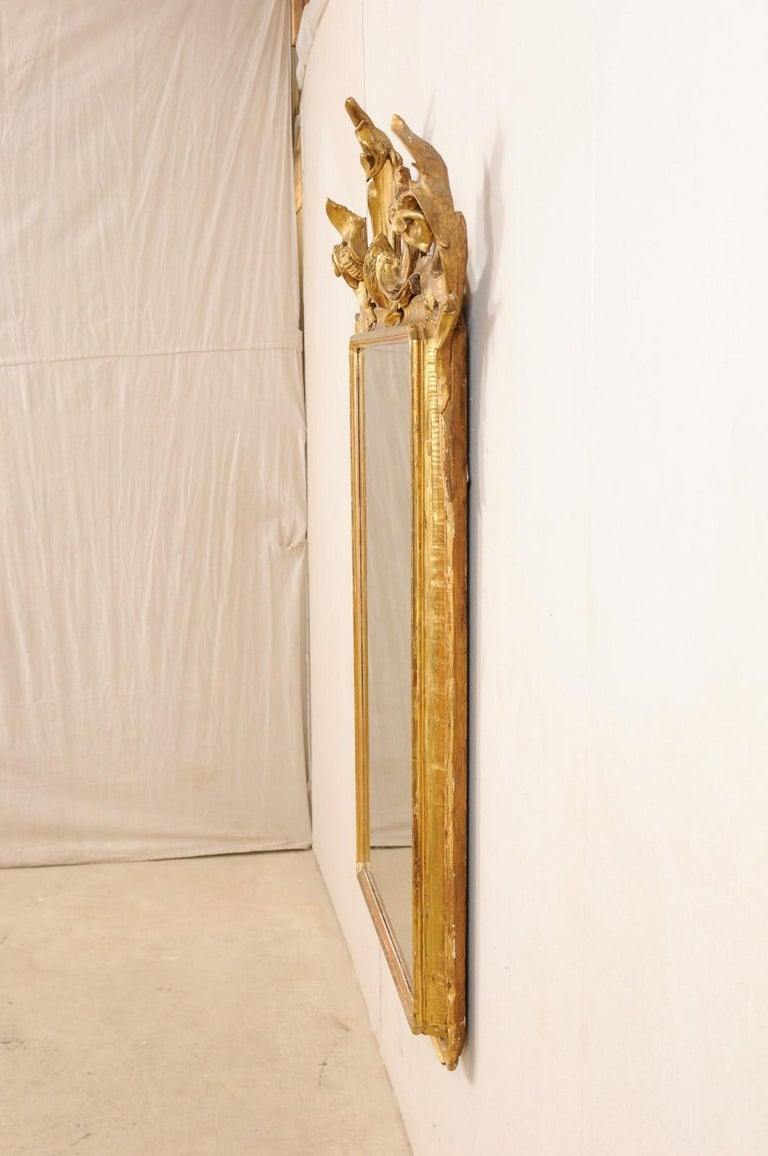 Italian Tall Carved and Giltwood Mirror, Early 20th Century  For Sale 7