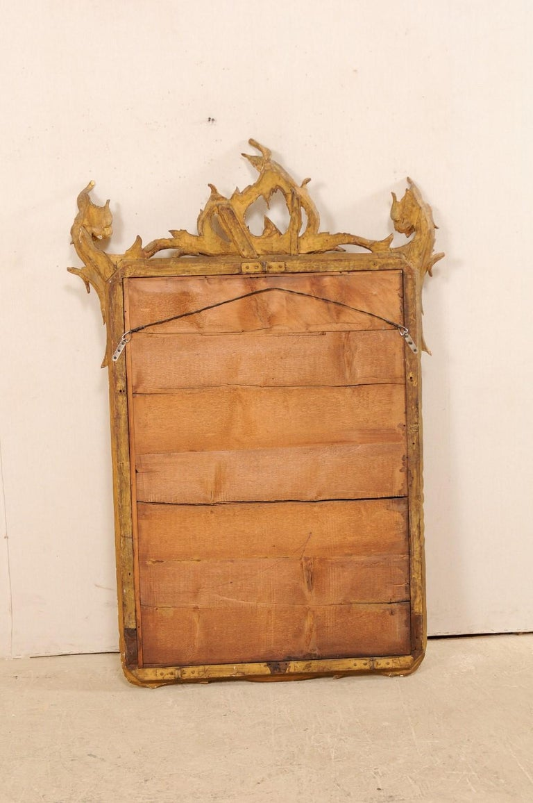 Italian Tall Carved and Giltwood Mirror, Early 20th Century  For Sale 8