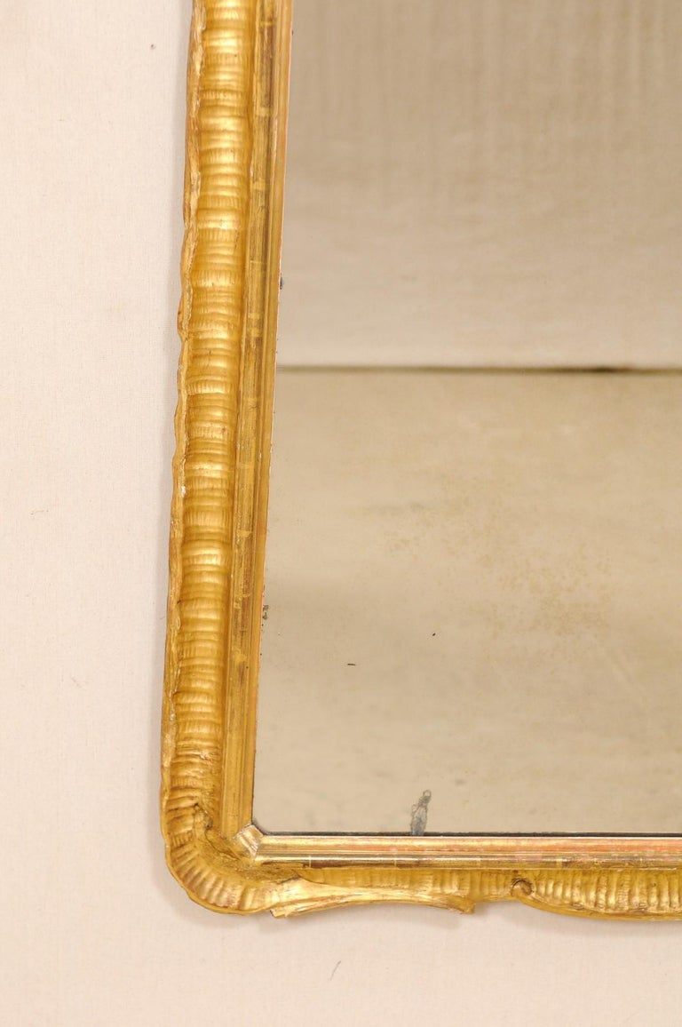 Italian Tall Carved and Giltwood Mirror, Early 20th Century  For Sale 3