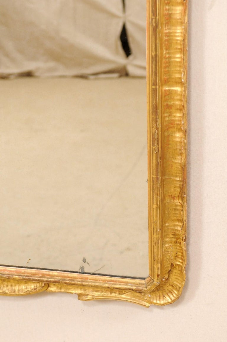 Italian Tall Carved and Giltwood Mirror, Early 20th Century  For Sale 5