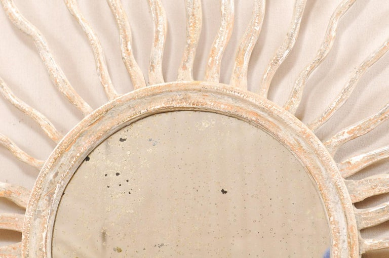 Italian Sunray Wall Ornament with Mirror Center, Pair Available For Sale 7