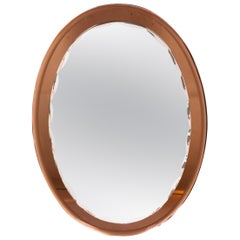 20th Century Italian Oval Mirror H 80cm W 58cm Italian Circa 1970