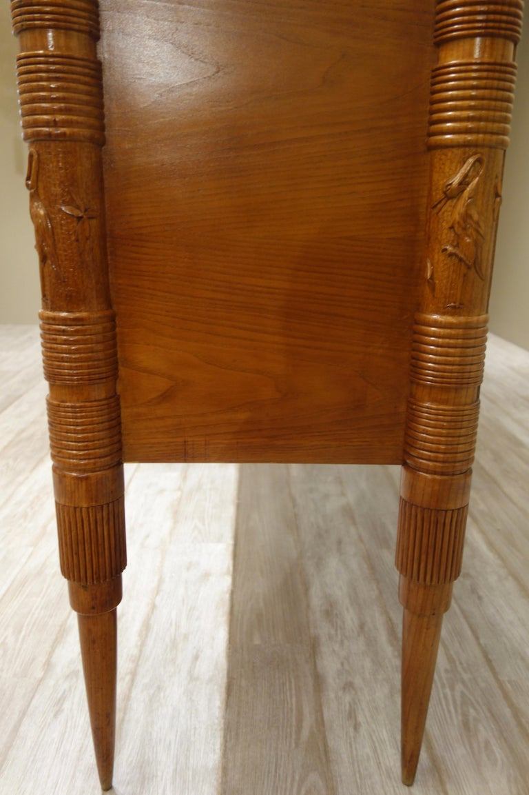 Italian Carved Two-Tone Wood Sideboard or Credenza by Pier Luigi Colli For Sale 2