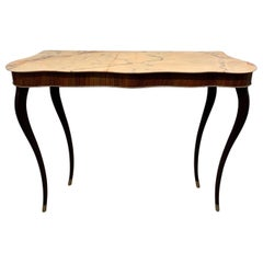 Italian Console with Marbletop, 1940s