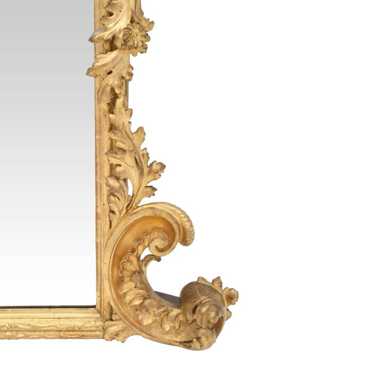 Italian Early 19th Century Baroque Giltwood Mirror For Sale 3