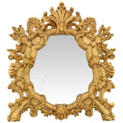 Italian Early 19th Century Baroque Style Giltwood Mirror