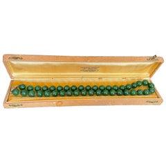 An Italian Jadeite Bead Necklace, Milano, 1970's