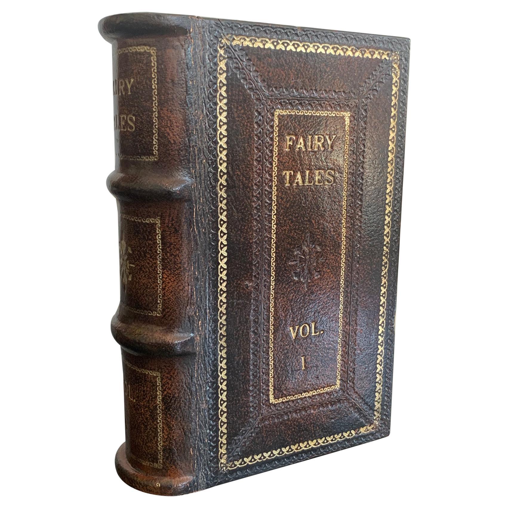 Italian Leather Faux Book Box