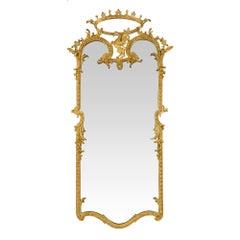 Italian Louis XIV Style 19th Century Giltwood Mirror