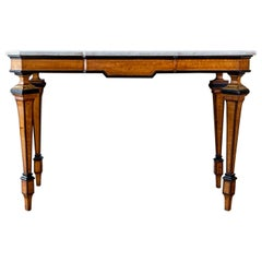 Italian Marble Topped Console Table with Graphic Lines, circa 1850