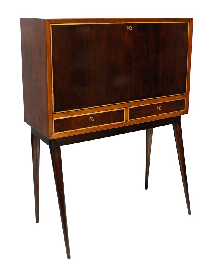 Italian Midcentury Bar Cabinet In Excellent Condition In London, GB