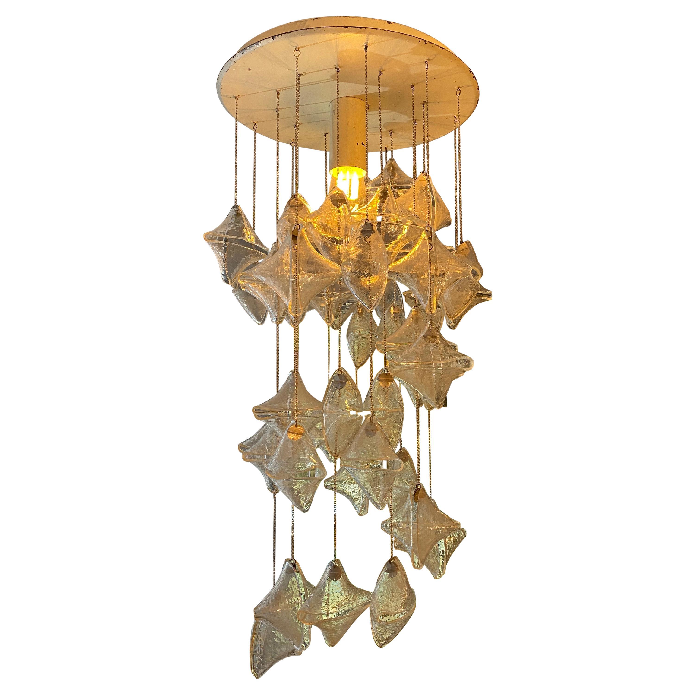 Italian Murano Glass Spiral Chandelier