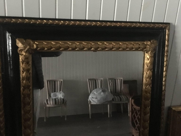 Neoclassical Italian Painted and Gilt Mirror, 19th Century For Sale
