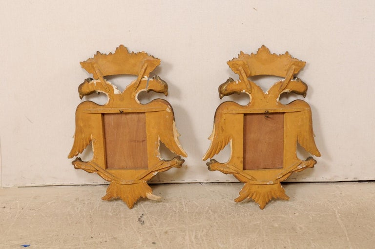 Italian Pair Federal-Style Eagle Wall Decorations with Mirror Centers For Sale 7