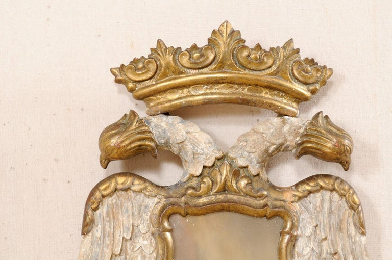 Italian Pair Federal-Style Eagle Wall Decorations with Mirror Centers For Sale 3