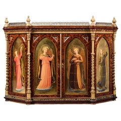 Italian Renaissance Revival Table Cabinet by Raphaello Cipriani, circa 1870