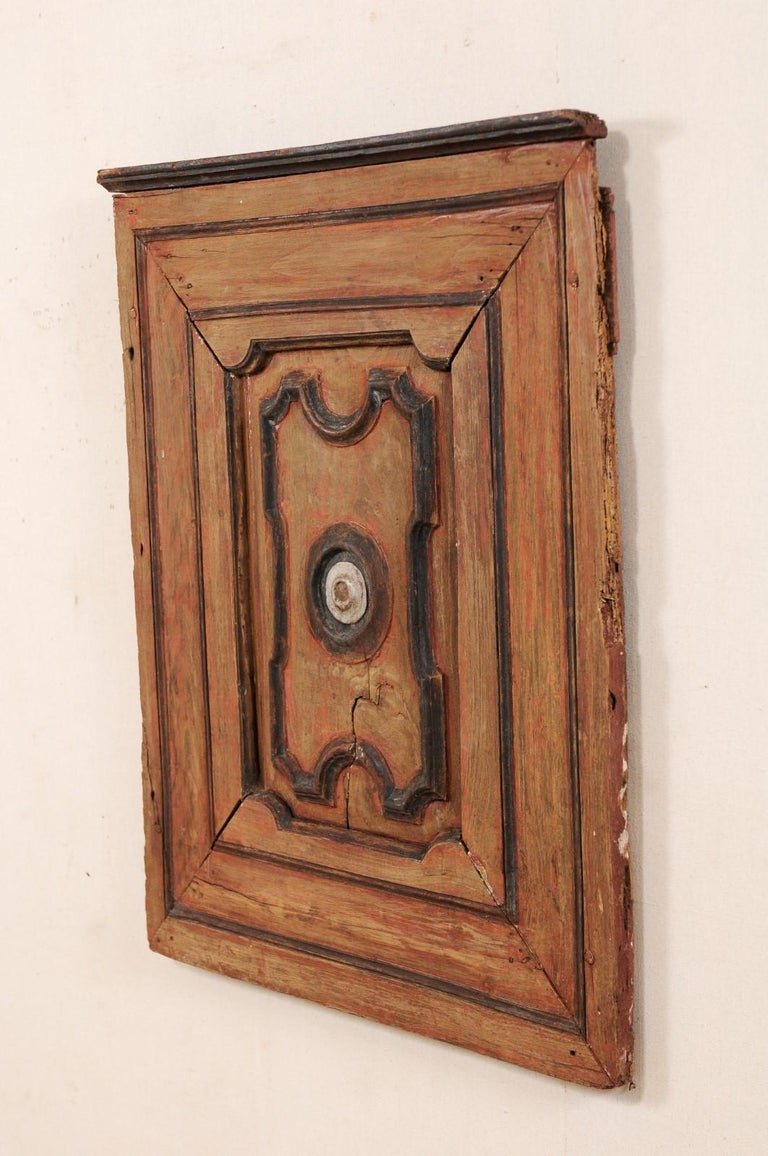Italian Turn of the 18th and 19th Century Wooden Decorative Wall Panel For Sale 4
