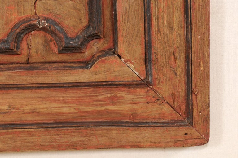 Italian Turn of the 18th and 19th Century Wooden Decorative Wall Panel For Sale 6