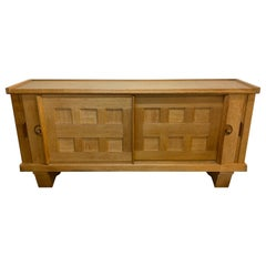 Oak and Ceramic Sideboard Edition Votre Maison, circa 1950-1960