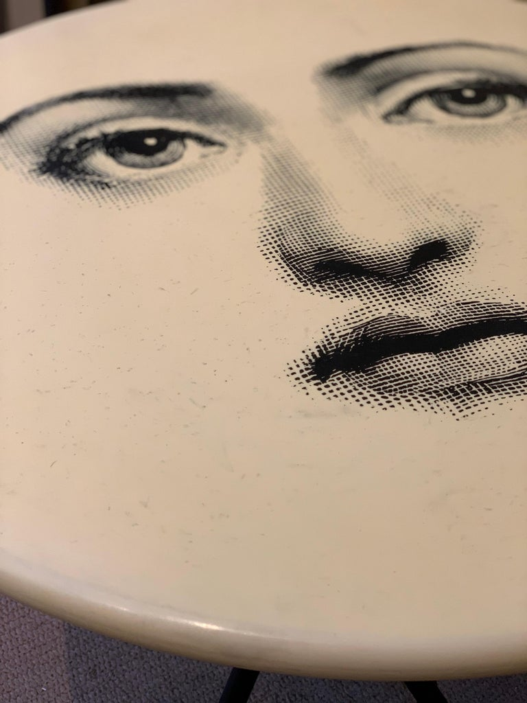 Occasional Table by Fornasetti Printed with Lina Cavalieri's Portrait In Good Condition For Sale In New Orleans, LA