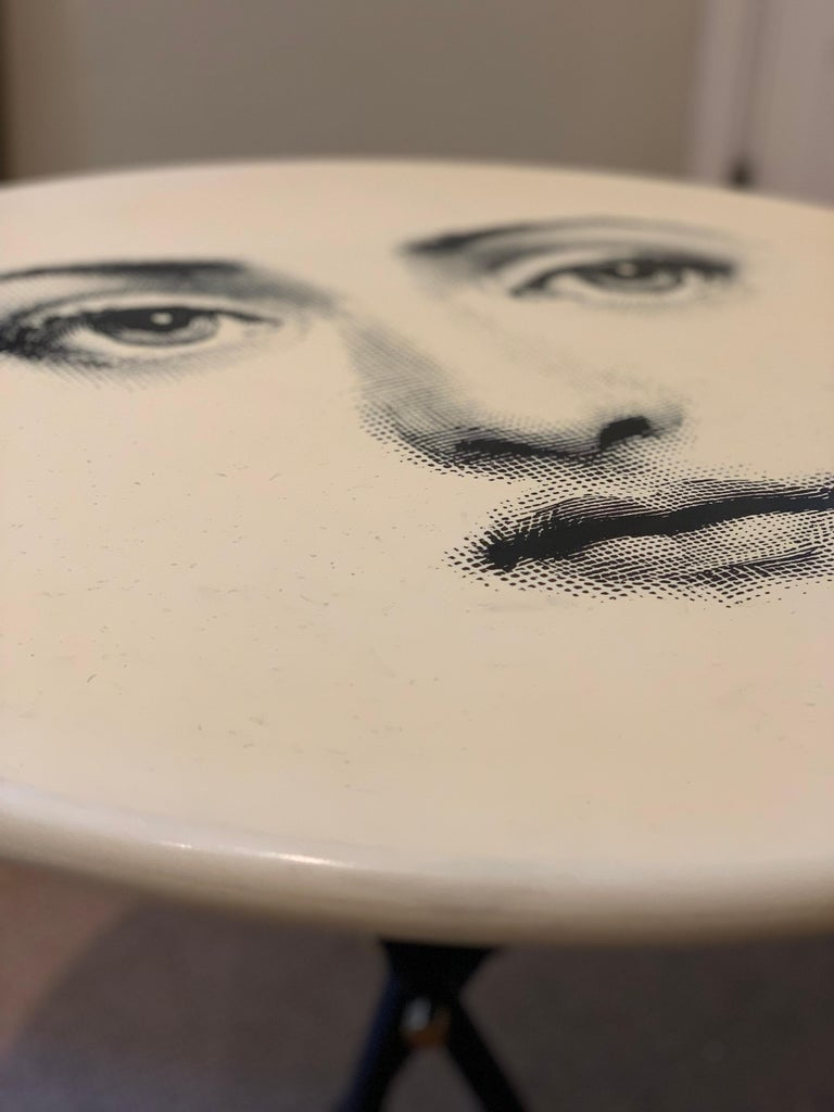 20th Century Occasional Table by Fornasetti Printed with Lina Cavalieri's Portrait For Sale