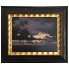 Oil on Canvas of a Storm by Mark K. Horton