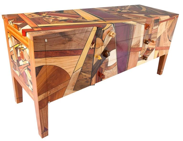 We designed this sideboard or credenza entitled