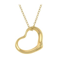 Open Heart Pendant with Chain by Elsa Peretti for Tiffany & Co.