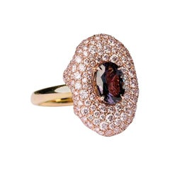 An Order of Bling Alexandrite and Pink Diamond Ring