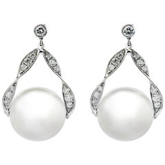 An Order of Bling Diamond and South Sea Pearl Earrings