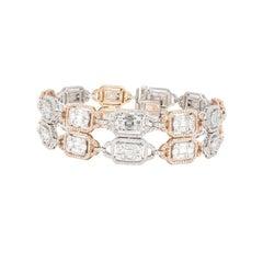 An Order of Bling Diamond Bracelet, 18 K White and Rose Gold