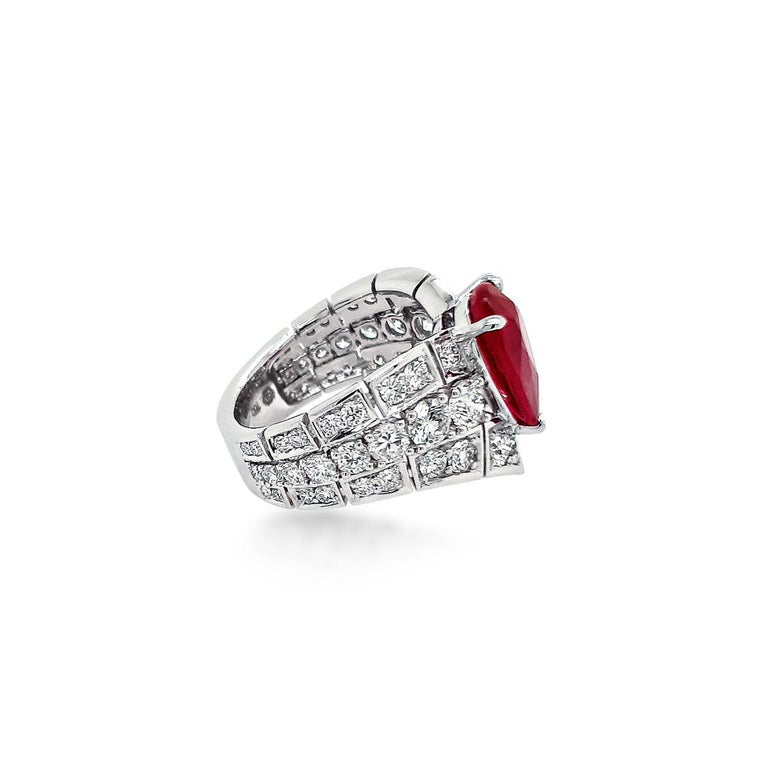Women's An Order of Bling Unheated Ruby and Diamond Ring For Sale