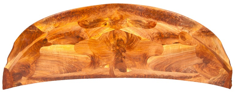 Contemporary Highly Figured Organic Live Edge and Carved  Walnut Coffee and End Table Suite For Sale