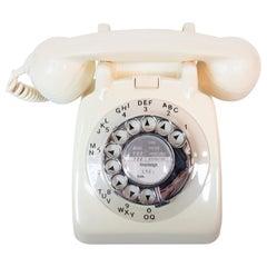 Original 1967 GPO Model 706 Telephone in Ivory, Original Nylon Carrying Strap