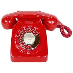 Original 1970s Red GPO Model 746L Telephone Full Working Order