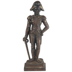 Original Antique Cast Iron Flat Back Figure of Admiral Nelson