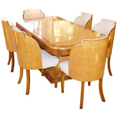 Original Art Deco 6-Seat Dining Suite by Harry & Lou Epstein, circa 1930