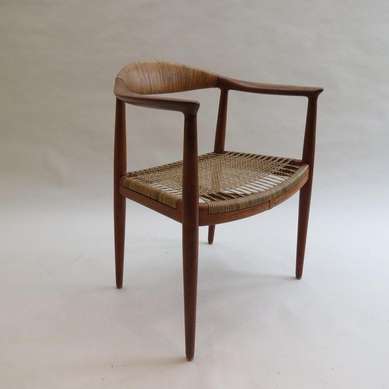 Danish Original Early Version of the Chair by Hans J Wegner Johannes Hansen JH 501 For Sale
