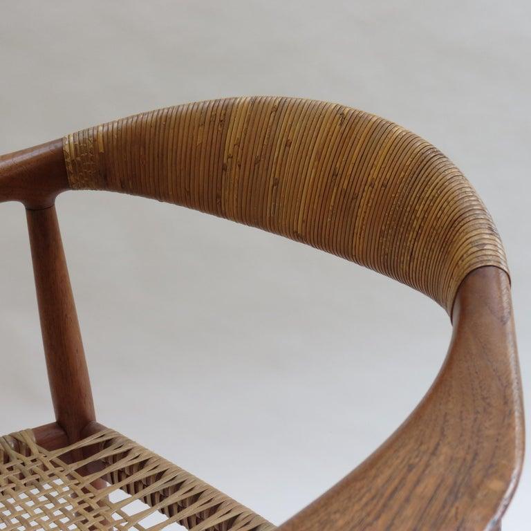 Cane Original Early Version of the Chair by Hans J Wegner Johannes Hansen JH 501 For Sale
