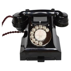 Original GPO Model 312L Black Bakelite Telephone Full Working Order