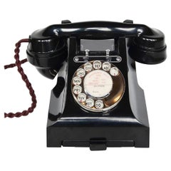 Original GPO Model 328L Black Bakelite Telephone Full Working Order