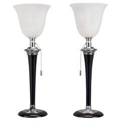 Original Pair of Art Deco 'Mazda' Table Lamps