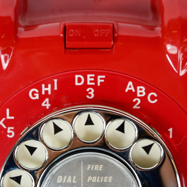 Original Red Lacquered GPO Model 706L Telephone Full Working Order For Sale 1