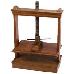 Oversized 19th Century Antique Book Press, Mahogany and Oak