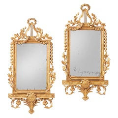 Pair of 18th Century Spanish Giltwood Mirrors