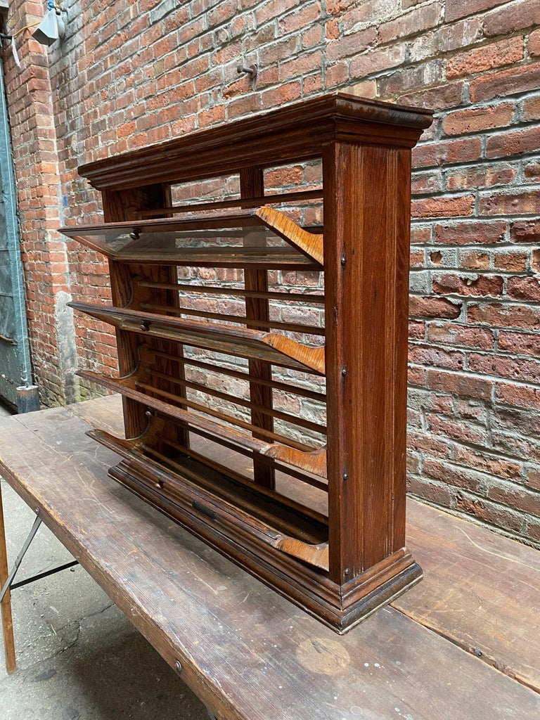 a. N. Russell and Sons Oak and Glass Display Cabinet For Sale 1