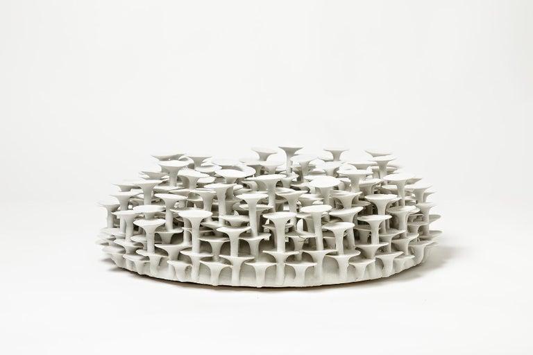 Beaux Arts Unique Porcelain Mirror, Sculpture by Mart Schrijvers, 2019 For Sale